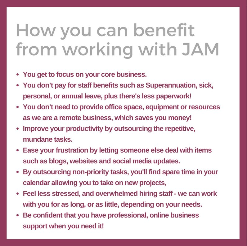 How you can benefit from working with JAM