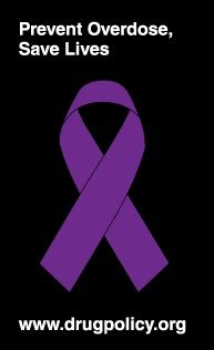 You can spread awareness about this epidemic by wearing a purple ribbon. Visit this  website  to learn more about drug overdose and how we can prevent it from happening. We want to promote policies and attitudes that reduce the harms of both drug use and drug prohibition.