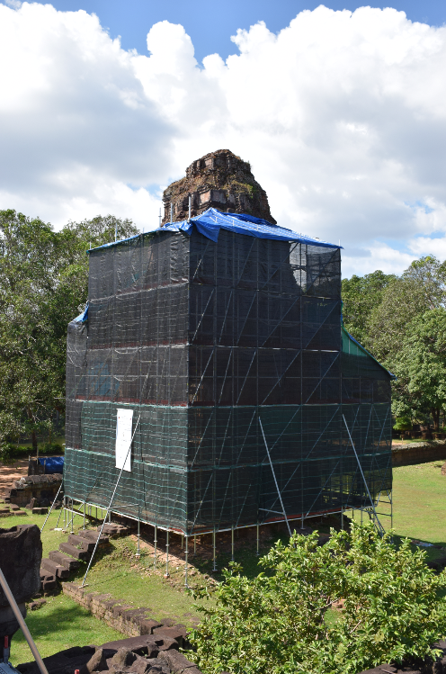 Scaffolding in Cambodia is amazing.
