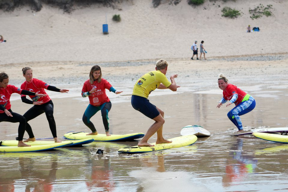 Photo: Women + Waves Surf Coaching Weekend with Newquay Activity Centre.