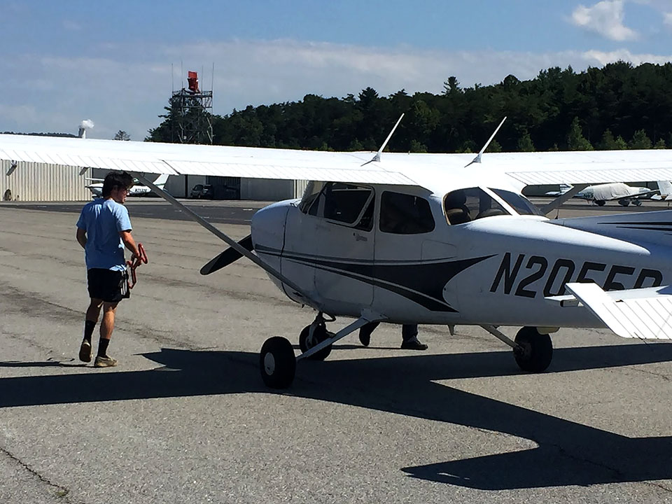 Asheville Regional Airport, North Carolina — My first solo in Cessna N2055R.