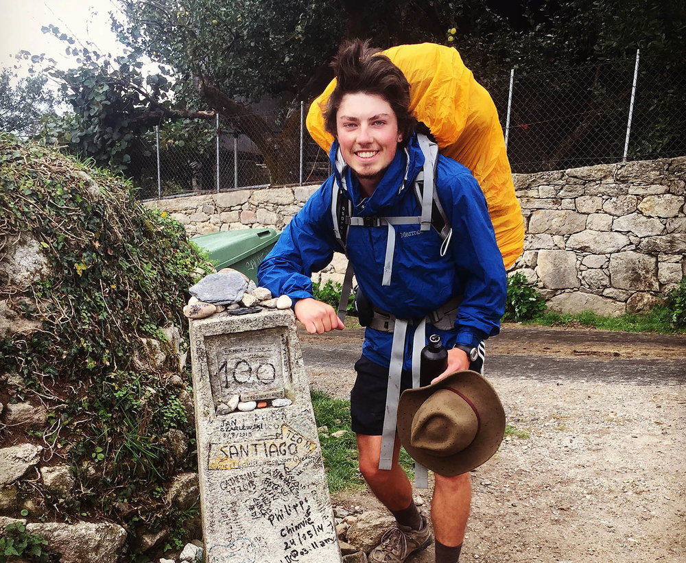 Kristian about to begin his 1000 mile walk on the Camino de Santiago in Spain