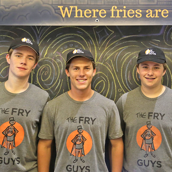 Max 17, Chase 16, Sam 16 - Cofounders, The Fry Guys