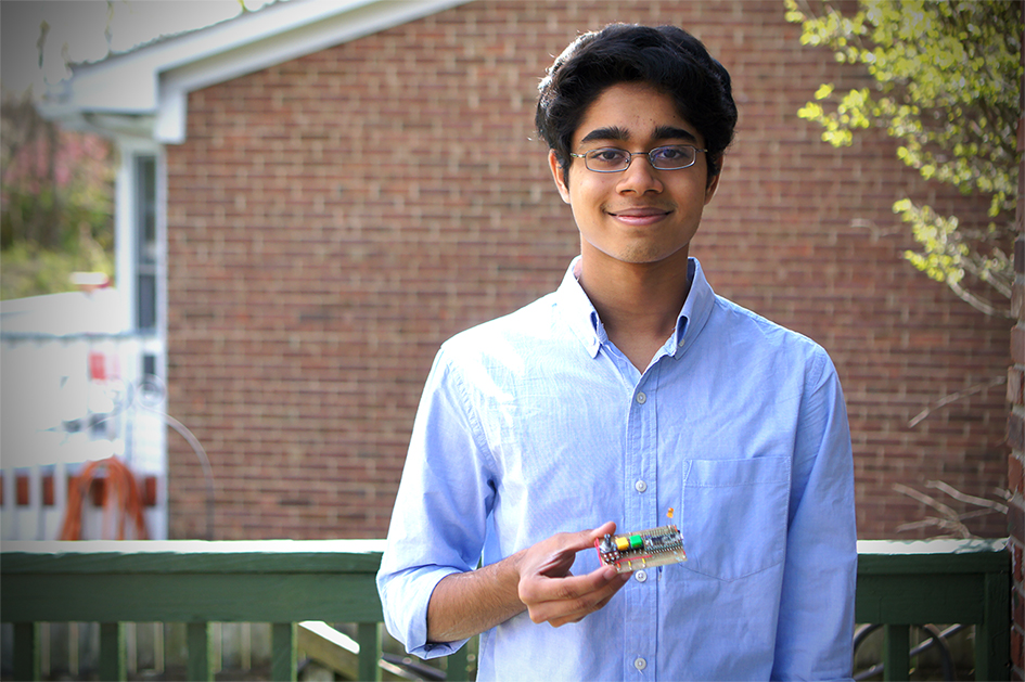 16-year-old Mukund Venkatakrishnan was frustrated with how costly and time intensive it was for his grandfather to obtain a hearing aid. So he spent two years making one himself that will cost less.
