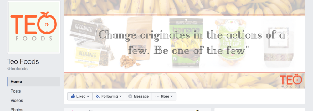 a MVP can be as simple as a Facebook page, this one came from QØ team TEO foods