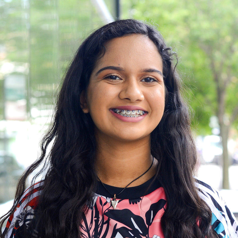 "Aarushi - ""I am a confident 16 year old female entrepreneur, storyteller, and activist. The night I thought of starting Threading Twine was probably the first time I felt a substantial amount of self value."""