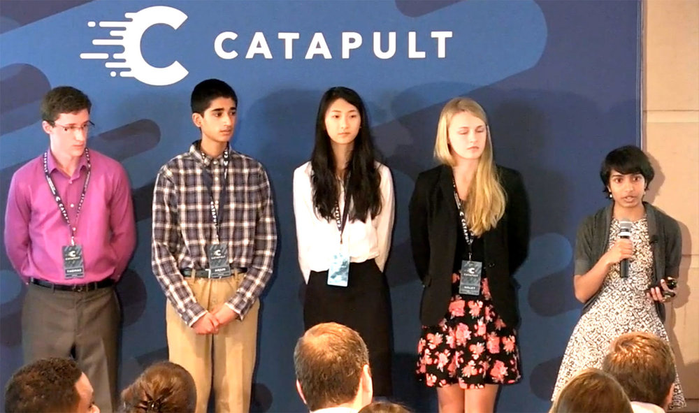 Disha pitching at Catapult Demo Day