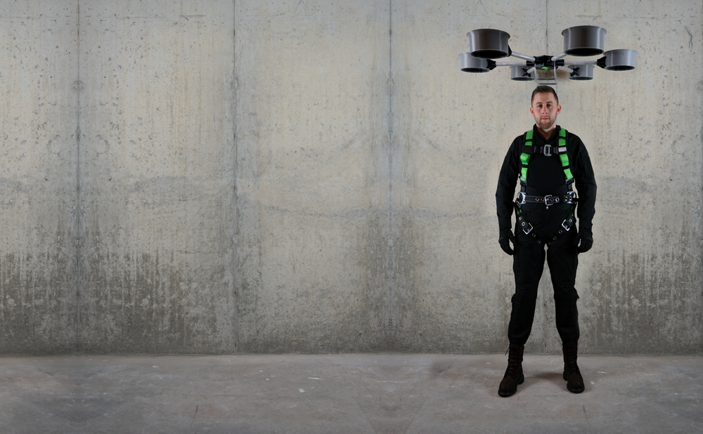 HALO™ - The world's first DronePack™. HALO uses drone technology to negate the forces of gravity and provide you superhuman abilities, target running speed - 35MPH.