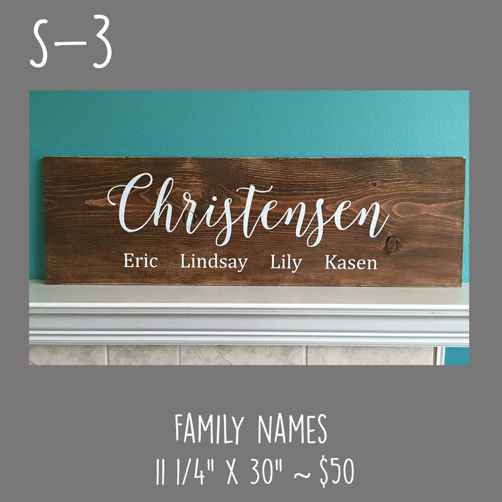 S3 Family Names Coffee Convo Craft