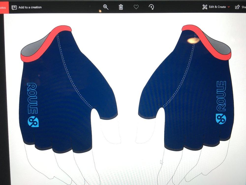 Glove, short: Navy ($20-$25)