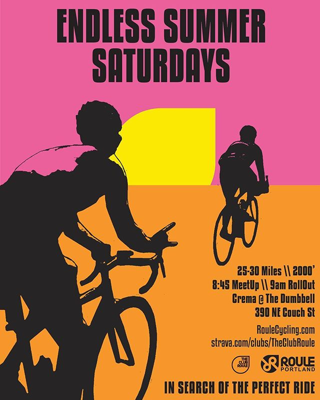 It never rains for #rouleendlesssummersaturdays!!! 😎 See y'all tomorrow! - RouleCycling.com \\ #RouleTogether #RoulePDX