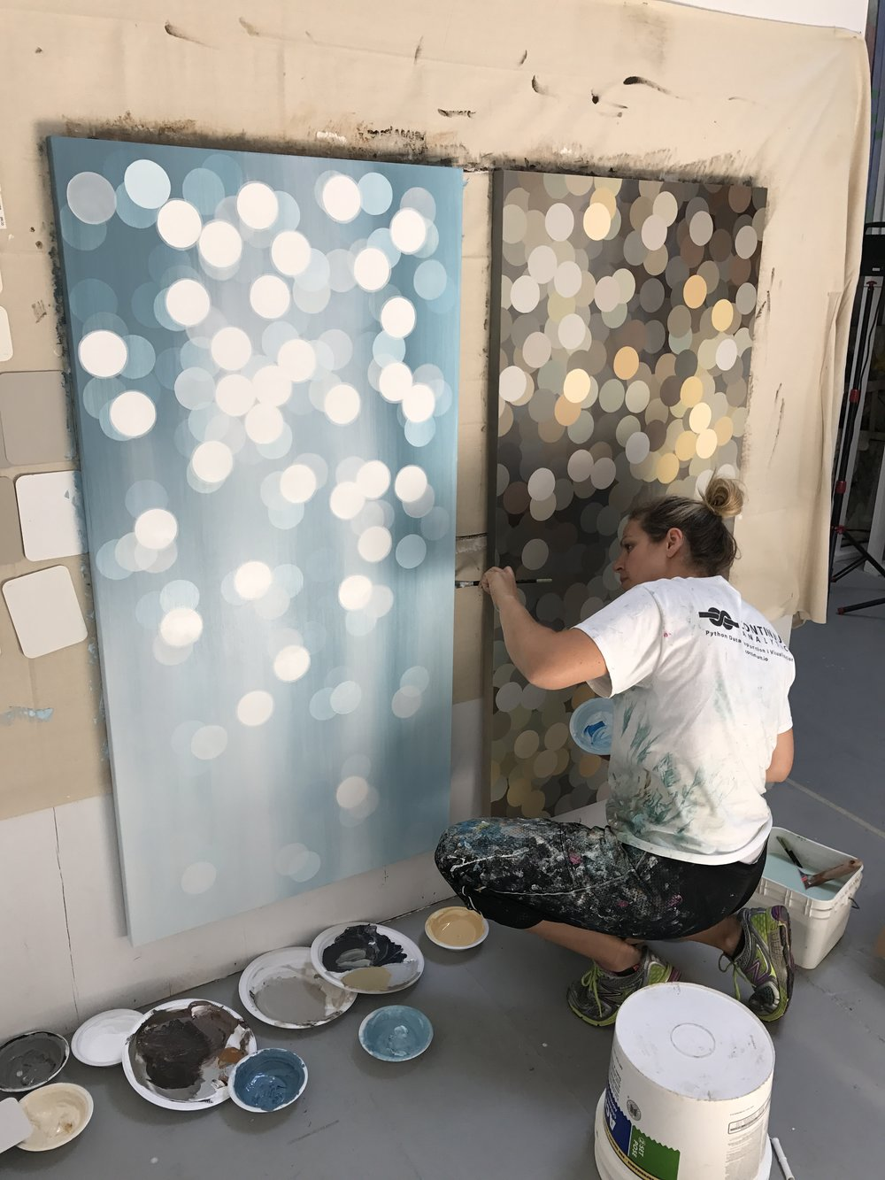 Rachelle working in her Toronto studio