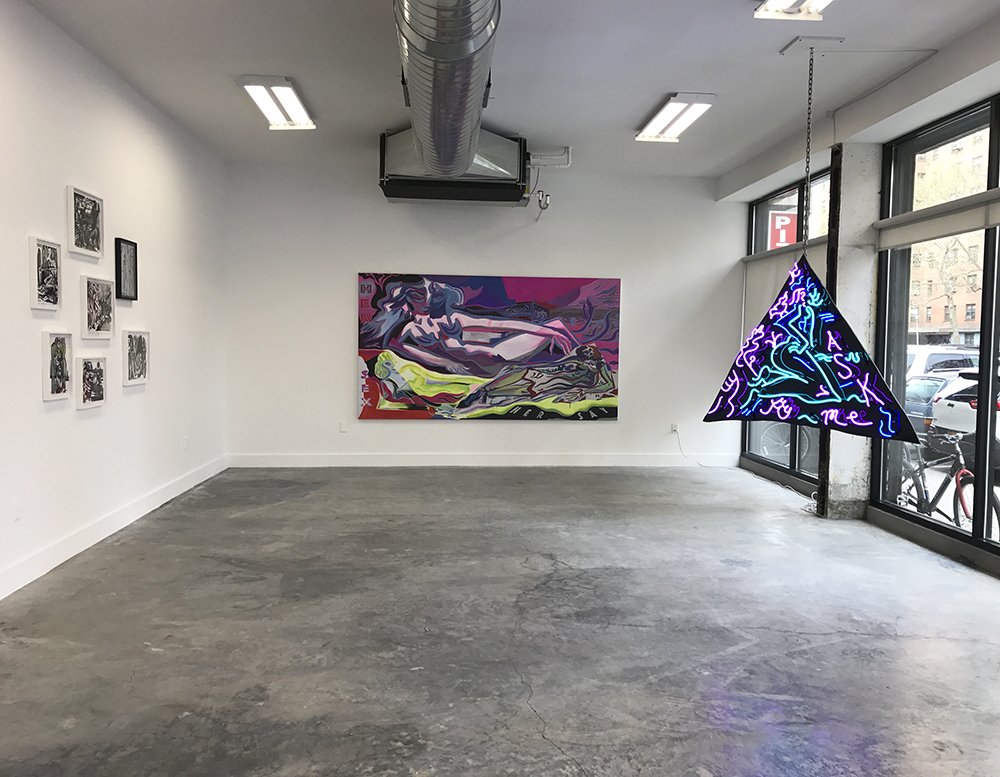 Mira Dancy's exhibition  CALL NOW  took place at 83 Pitt Street and Chapter NY (249 East Houston Street).