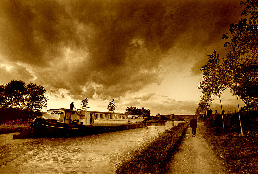 CANAL BARGE, FRANCE