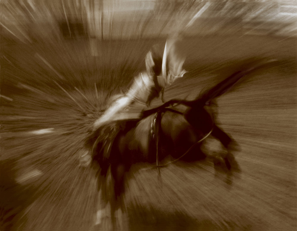 ABSTRACT BRONC RIDER