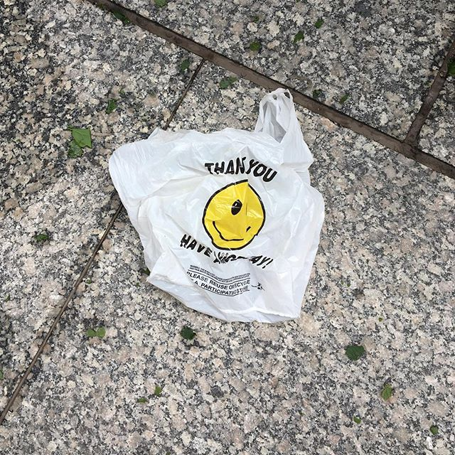 This #plasticbag looks like he had a great time riding the winds of last night's #spring rain storm. He might be winking at me. #bagitnyc #byobag #haveaniceday