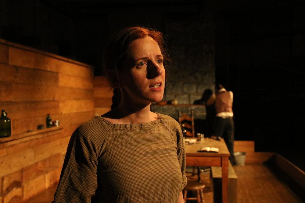 Katharine Vary as Sally and Jonas David Grey as Devil Anse at Cohesion Theatre Company.