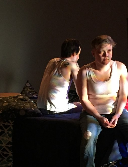 Logan Davidson as Nora and Fred Fletcher-Jackson as Max.