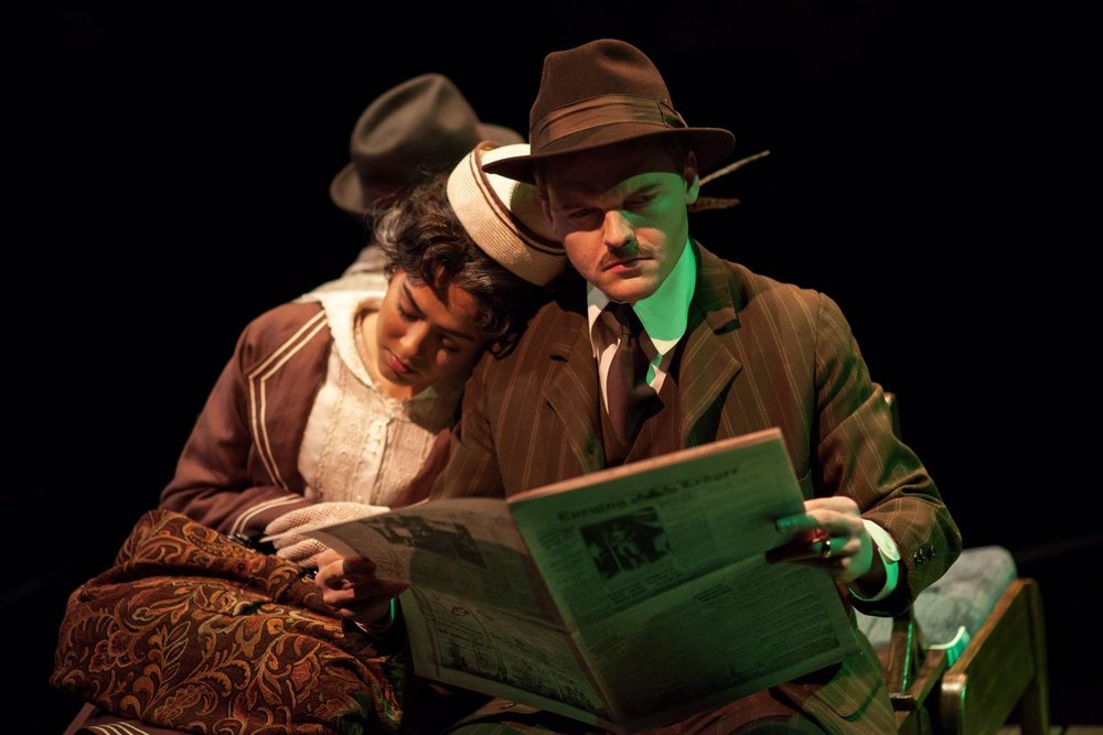 Juleeanne Villareal as Louisa Vansant and Christian Scheller as Charles Vansant. Photo by Lawrence Peart.