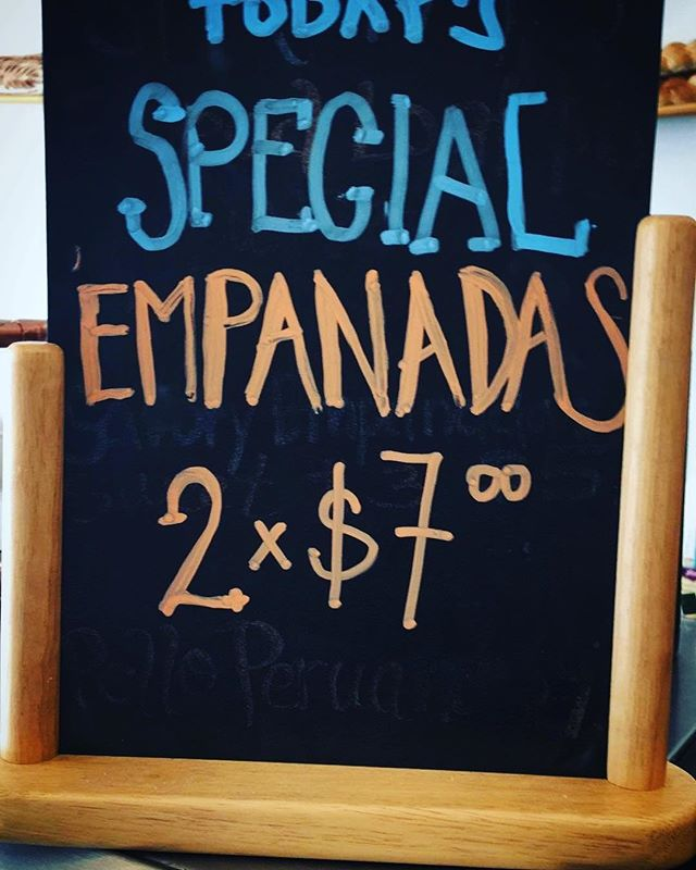 Come by today! for a special treat! 🤤😋 #2for7 #empanadas #8am-4pm