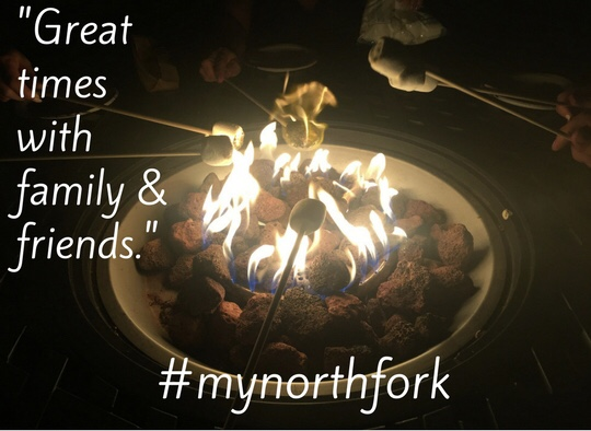 "#mynorthfork 11/24/2017 - ""I have the fondest memories with friends & family in the North Fork. Sitting around the fire with many of my favorite people in the world made me feel lucky and loved. Between giggles and talks, we made s'mores, enjoyed wine, and gazed at the stars. There's something so amazing about feeling like you're in the right place, at the right time, with the right people. The North Fork will always make me smile and hold a special place in my heart"""