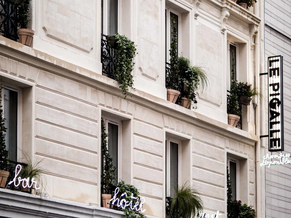Traditional Parisian architecture in Monmartre. Image credit Le Pigalle