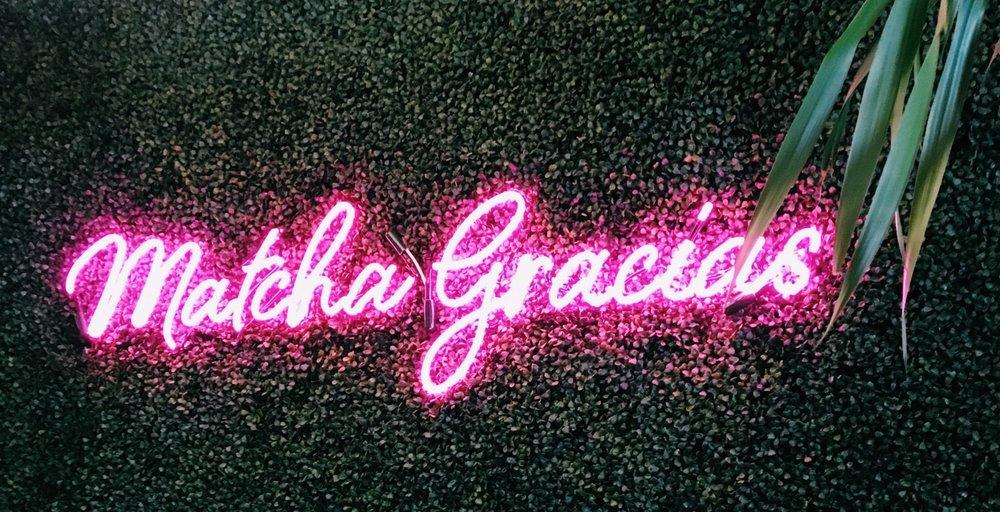 neon MATCHA sign - matcha bars around the world