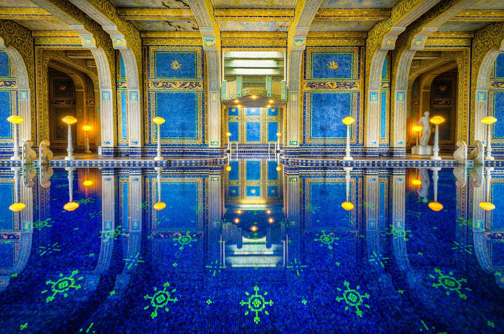 Hearst Castle's sapphire blue pool