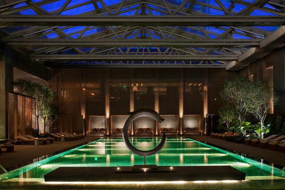 The Rosewood, Beijing's rejuvanating green pool