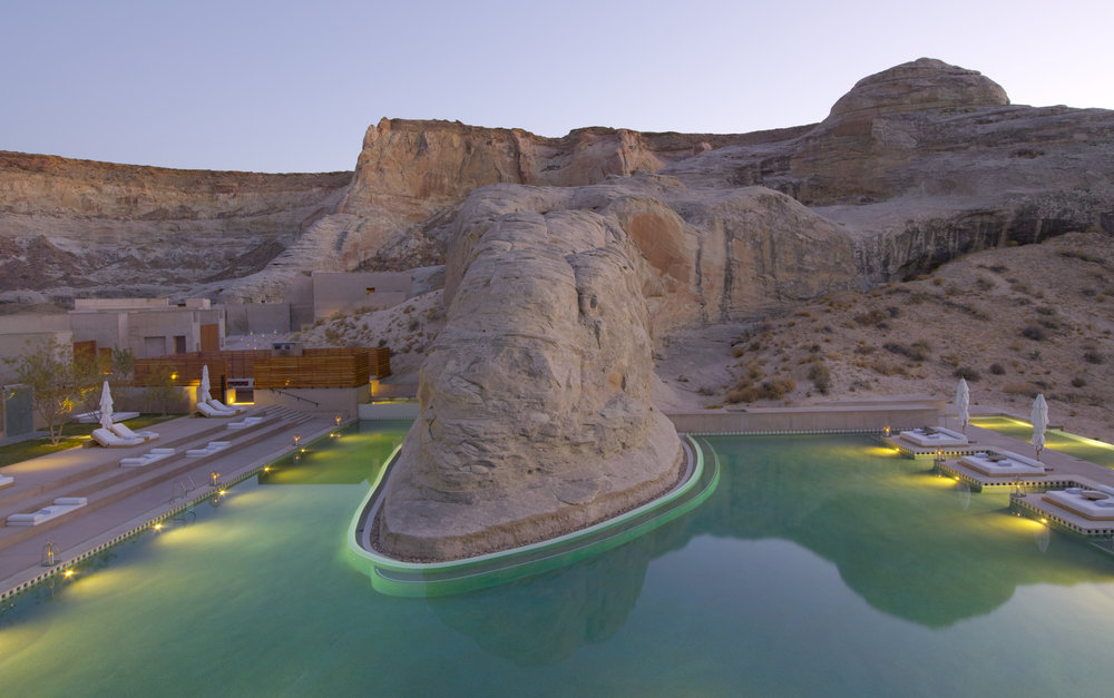 Amangiri hotel swimming pool, Utah, USA