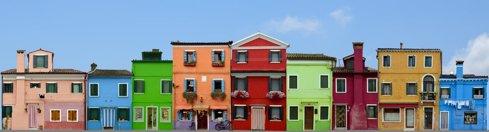 The colourful island of Burano, Italy