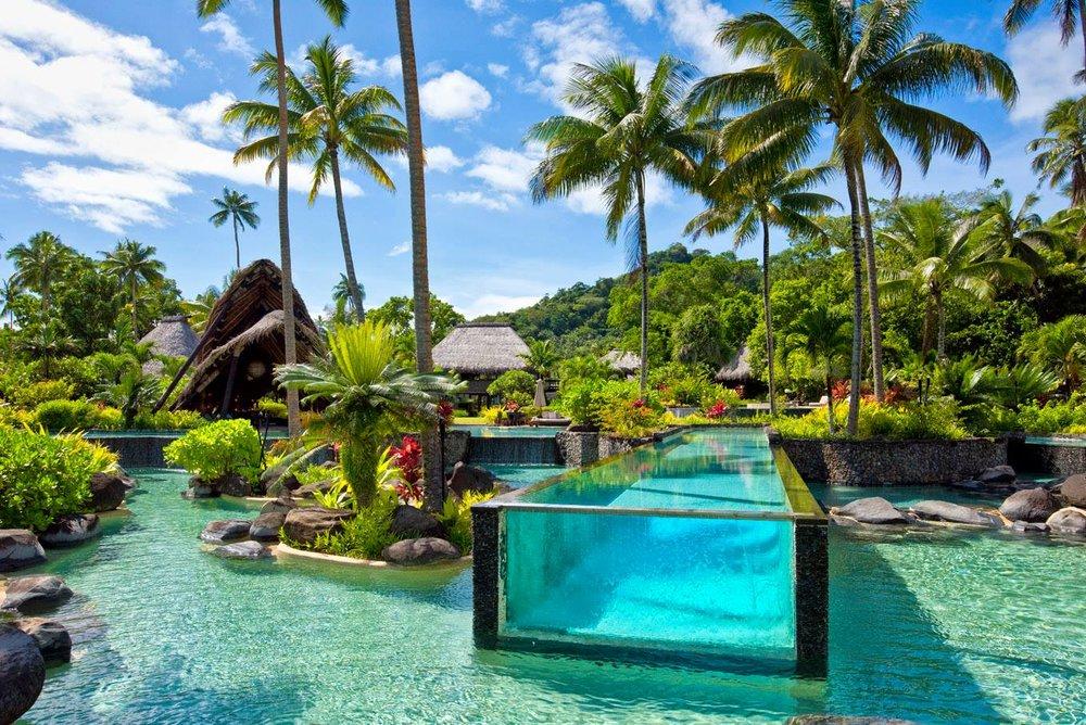 Laucala Island's striking lap pool