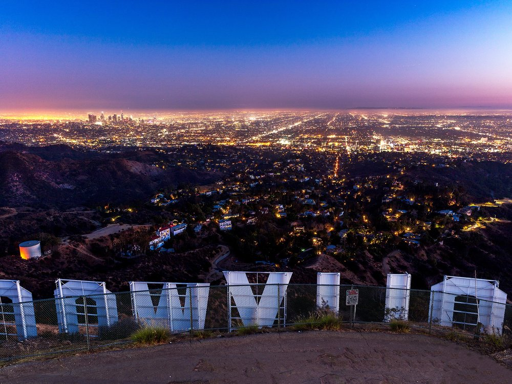 View of downtown LA from the Hollywood Hills