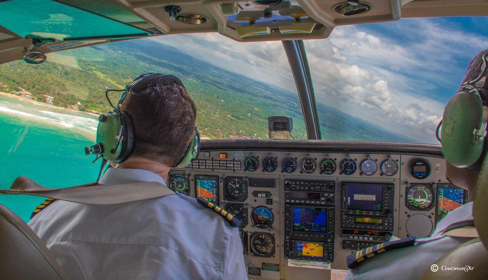 Flying above the Sri Lankan coastline