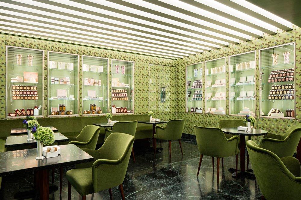 Prada's pistachio cafe