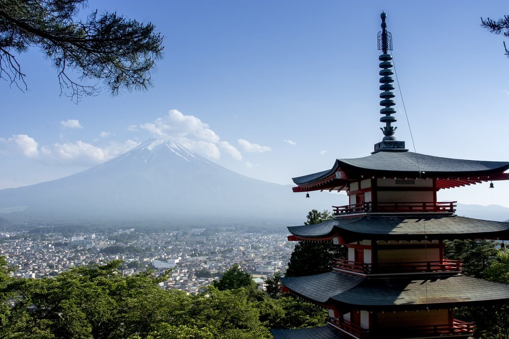 Mount Fuji in Yamanashi, Japan. Just a two hour journey from Tokyo.