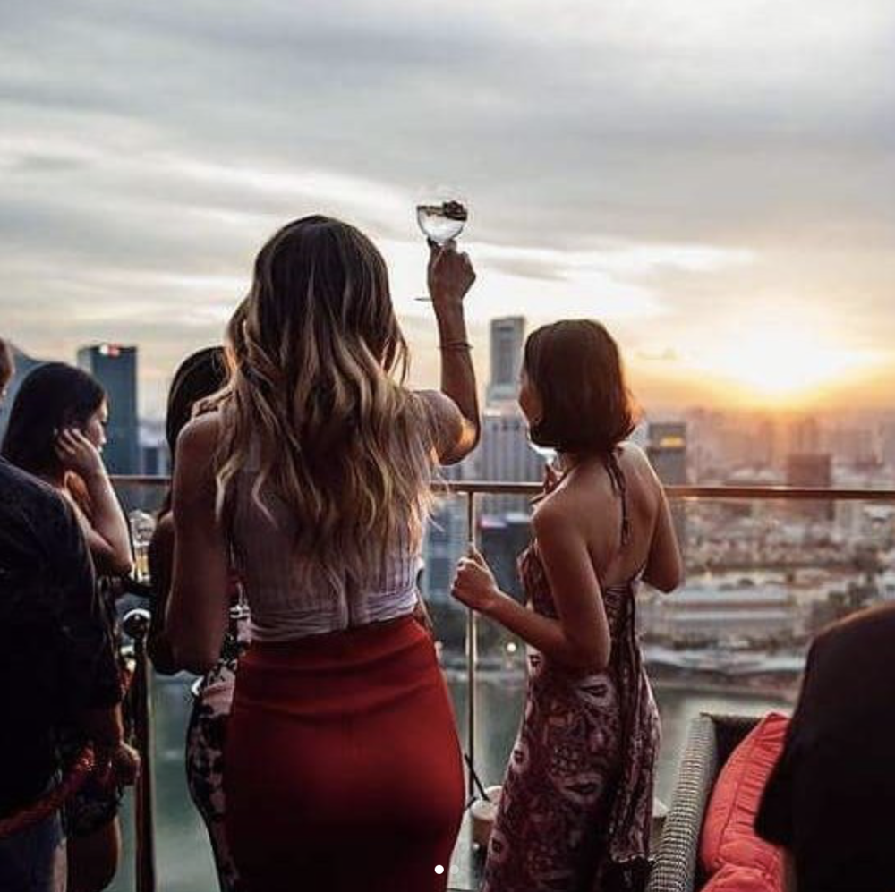 Sundowners at CÉ LA VI, Singapore. Photo Credit:  CÉ LA VI Singapore