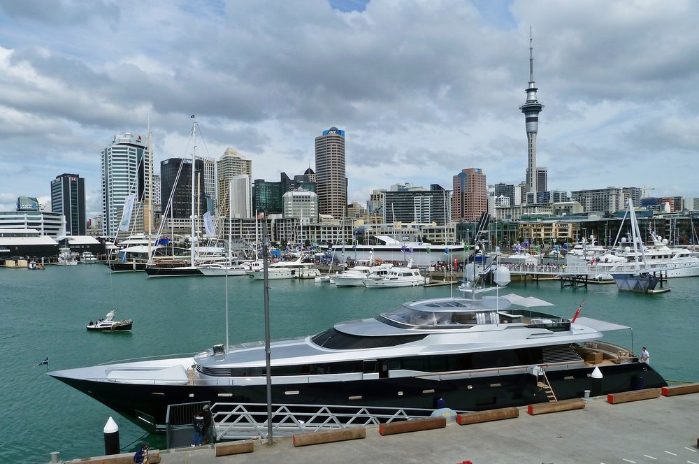 Auckland Harbour and Sky Tower