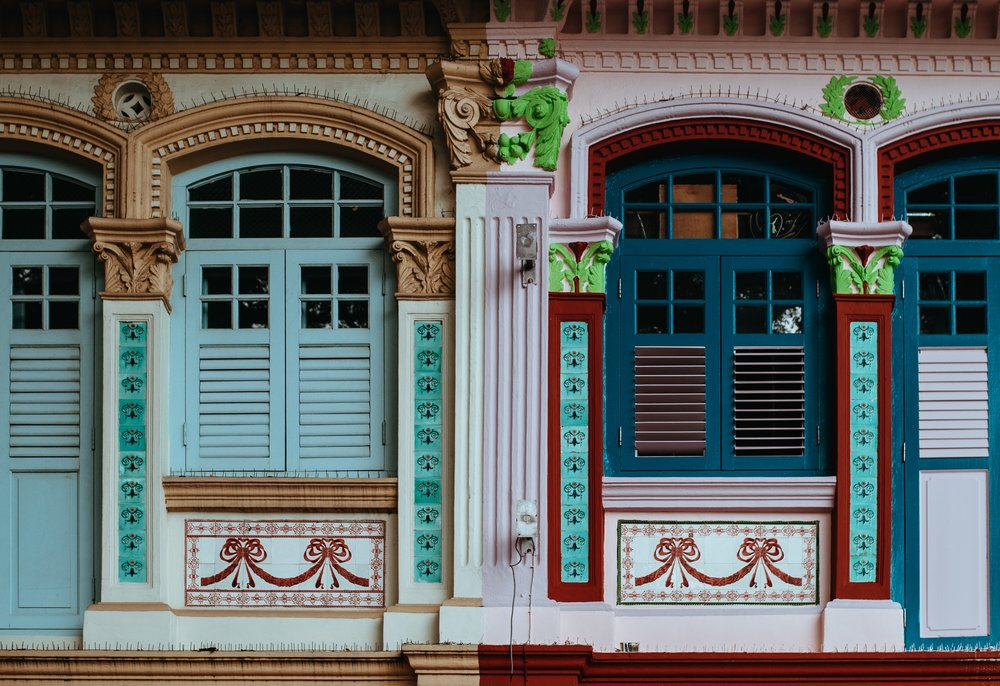 Traditional shop houses in Singapore. Photo Credit: Annie Spratt