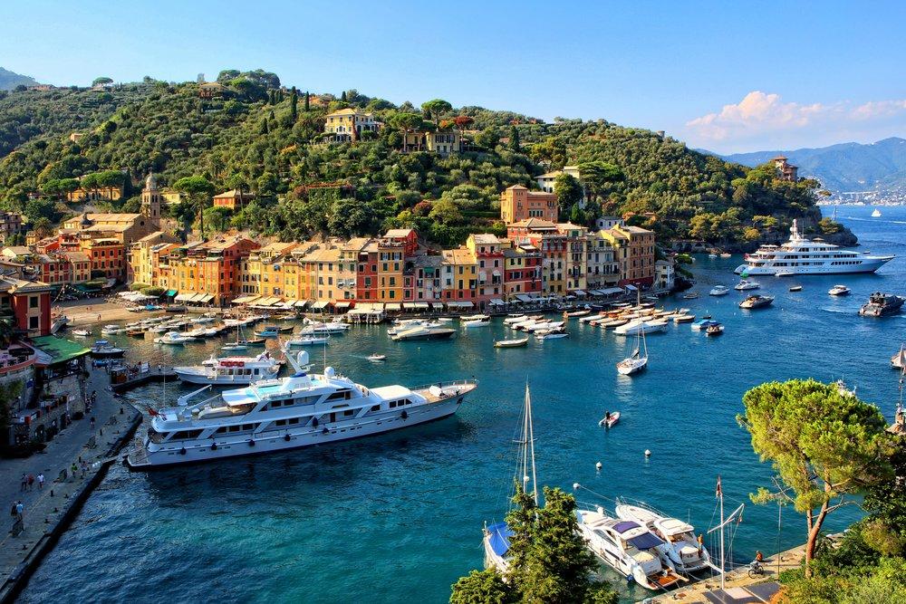 Superyachts in glamorous Portofino, Italy