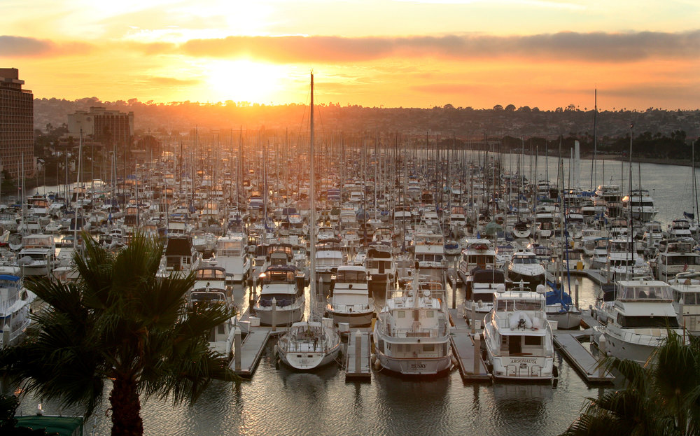 Harbour Island Marina. Photo Credit: Joanne DiBona Visit San Diego