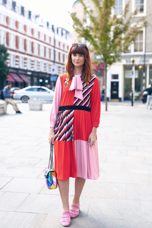 Street style fashion LFW 2018
