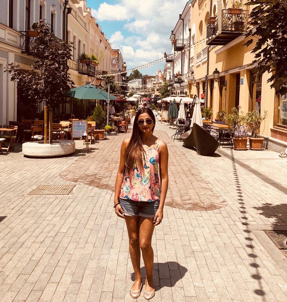 Priya Patel in Tbilisi, Georgia