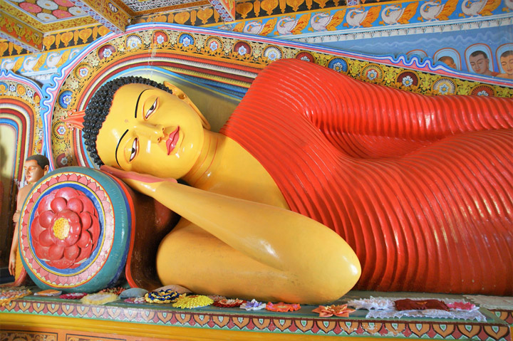 Buddha statue in Anuradhapura, Sri Lanka