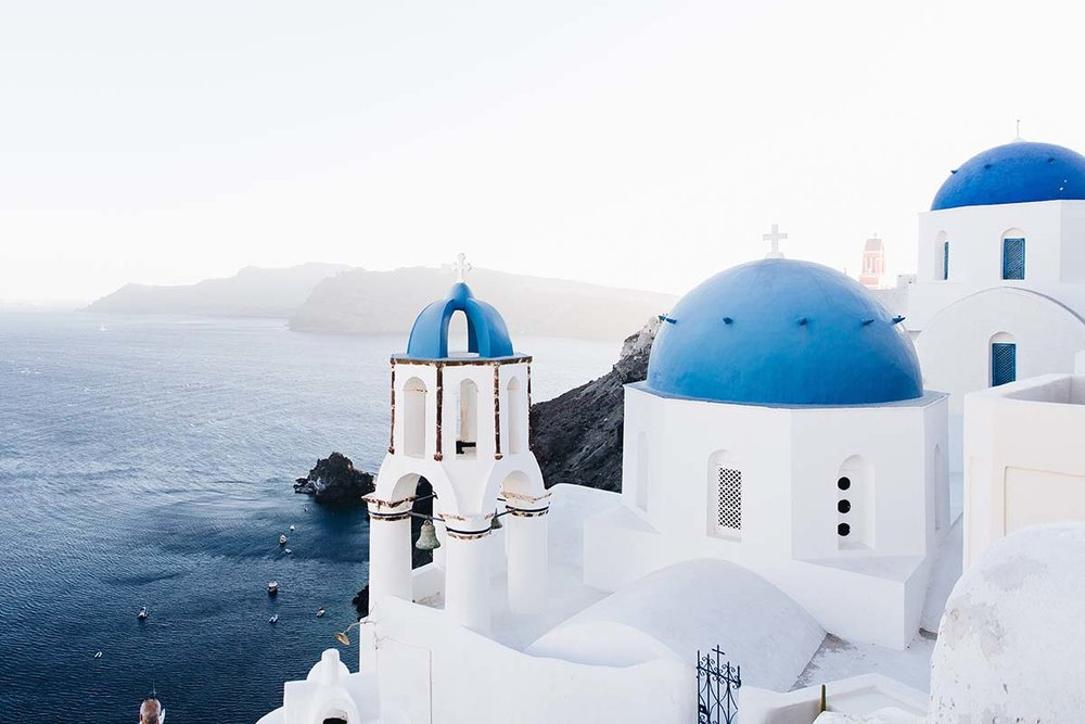 Santorini, Greece. This is the picture-perfect image that comes to mins when most tourists think of Greece. Photo Credit: Jonathan Gallegos