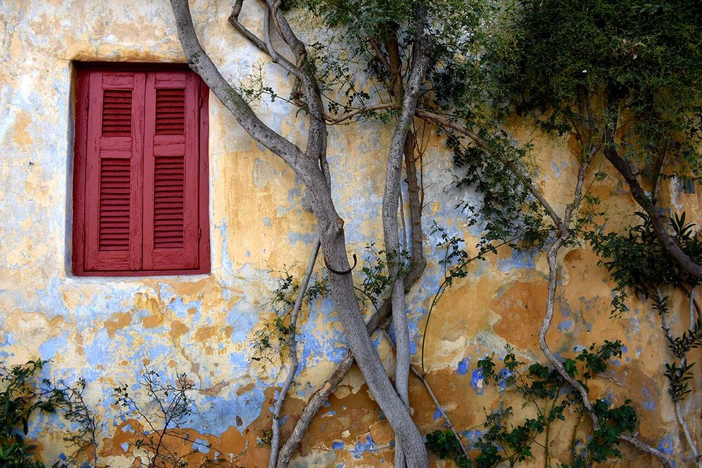 Traditional house window in Greece
