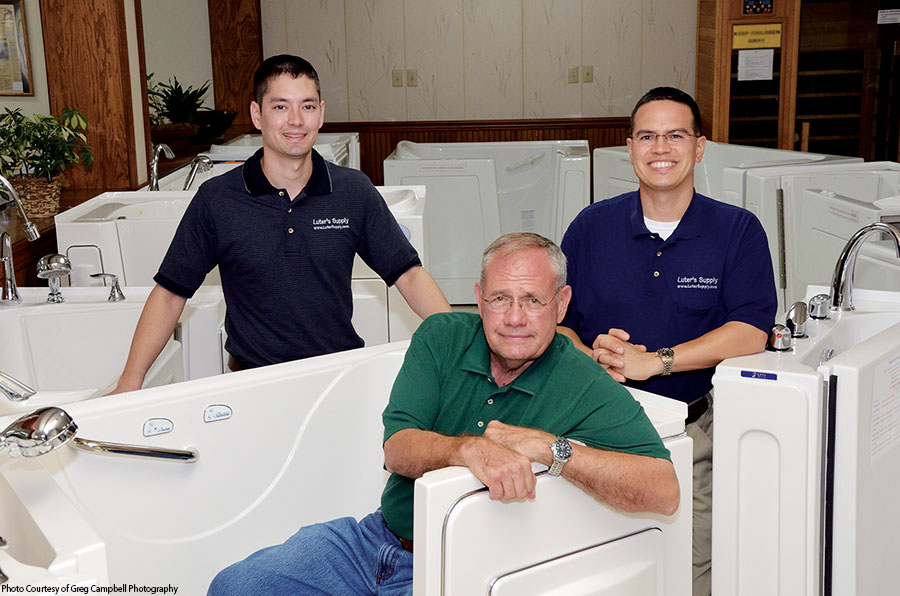 Emmette Luter  (front row) -  Former CEO & Designer of the  Big Emmette  &  Emmette Jr.  Walk-in Bathtubs