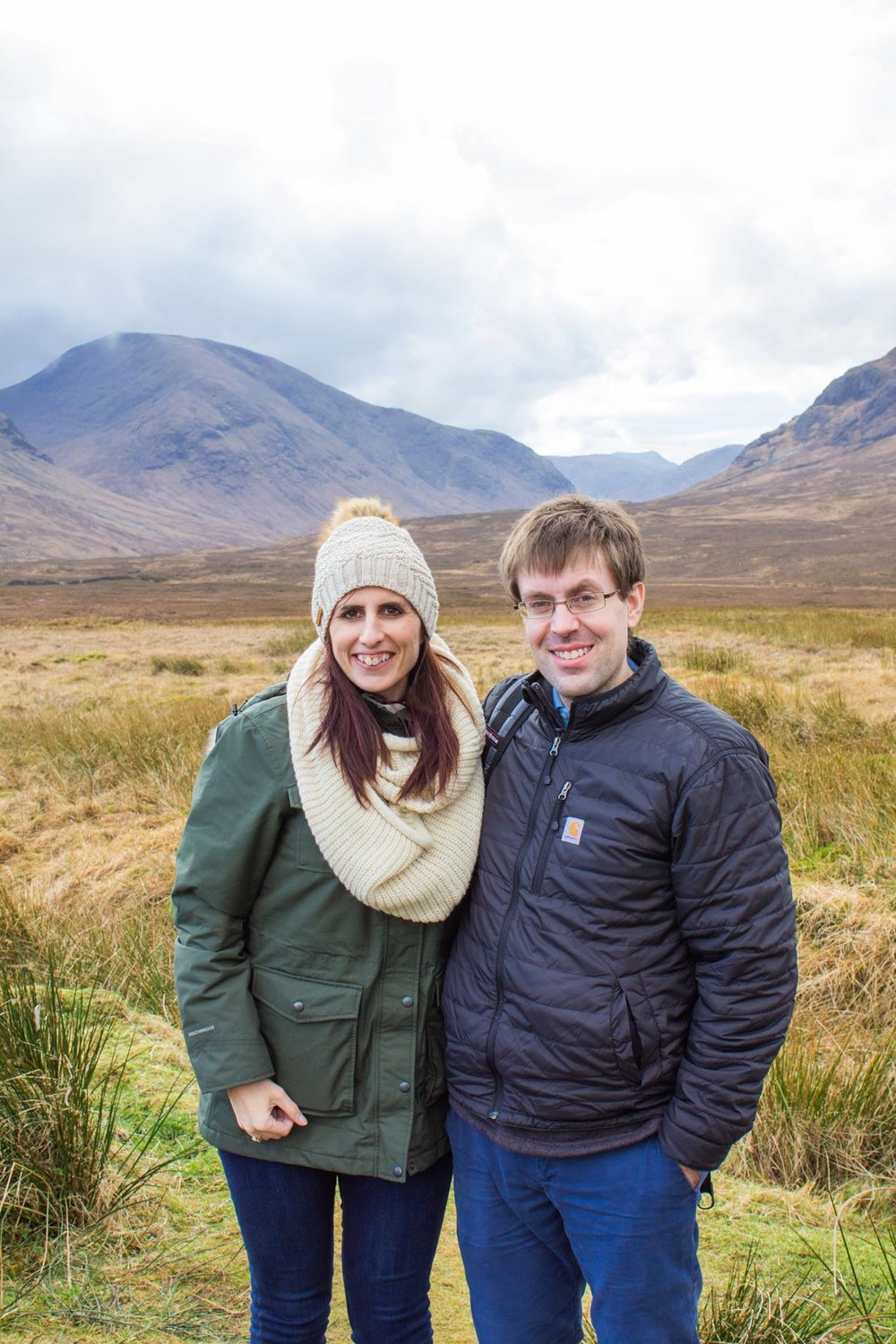 My hubby and I in the highlands of Scotland.