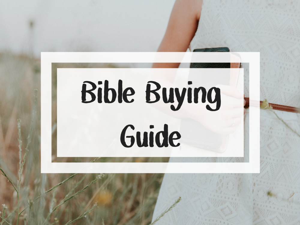 Bible Buying Guide How to find the right bible