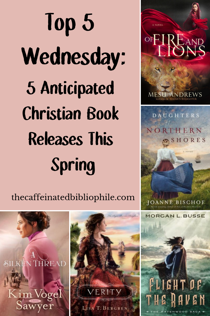 Top 5 wednesday christian book releases this spring
